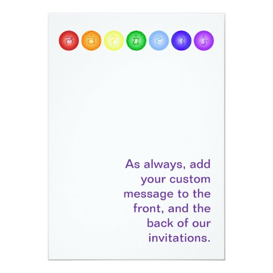 7 Chakras in a Horizontal Line Card
