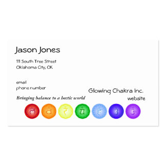 7 Chakras in a Line Double-Sided Standard Business Cards (Pack Of 100)