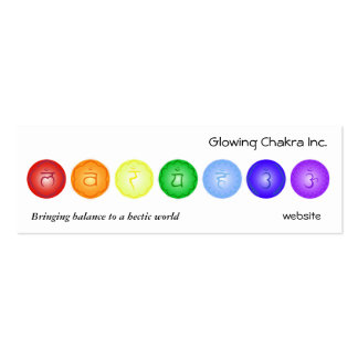 7 Chakras in a Line Double-Sided Mini Business Cards (Pack Of 20)