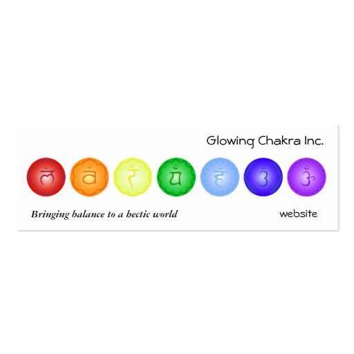 7 Chakras in a Line Business Card Template