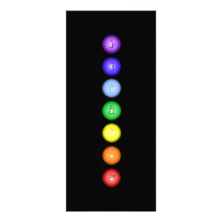 7 Chakras in a Line Rack Card