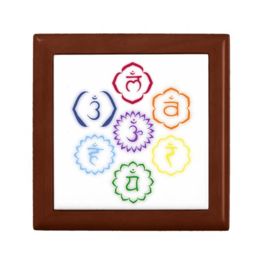 7 Chakras in Circle Jewelry Boxes