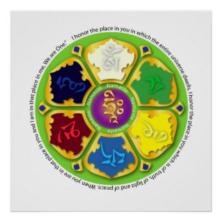7 chakras Mandala Print