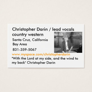 7, Christopher Darin / lead vocals country west... Business Card