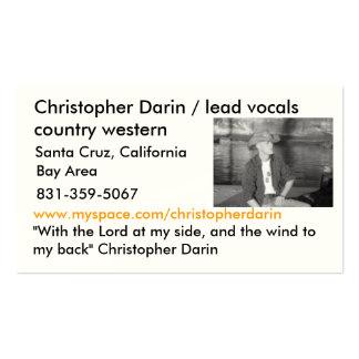 7, Christopher Darin/país de la pieza vocal de la Tarjetas De Visita