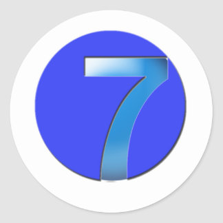7 CLASSIC ROUND STICKER