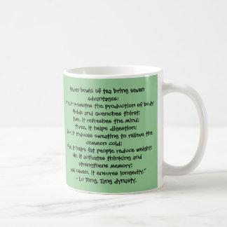 7 cuencos de té - taza china de la sabiduría