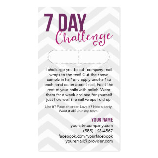 7 Day Challenge Sample Card Business Cards