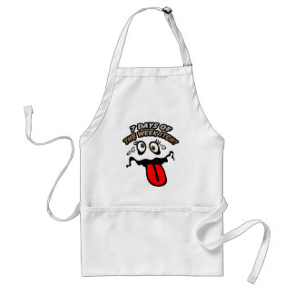 7 days of the week itch! adult apron