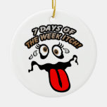 7 days of the week itch! Double-Sided ceramic round christmas ornament