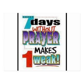 7 Days Without Prayer Postcard