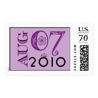 7 de agosto de 2010 sello del monograma