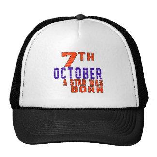 7 de octubre una estrella nació gorra