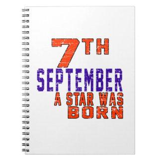 7 de septiembre una estrella nació note book