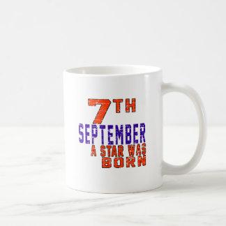 7 de septiembre una estrella nació taza básica blanca