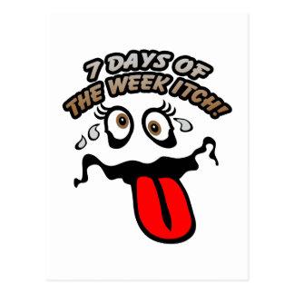 ¡7 días del picor de la semana! tarjetas postales