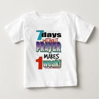 7 días sin rezo playera para bebé