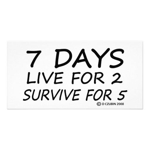 7 días tarjeta fotográfica personalizada