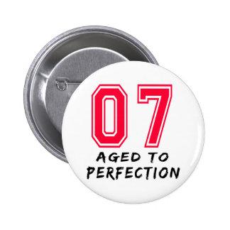 7 envejeció al diseño del cumpleaños de la perfecc pins