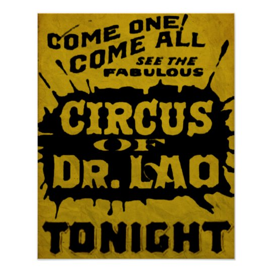 7 Faces Of Dr Lao Circus Flyer Poster Zazzlecom