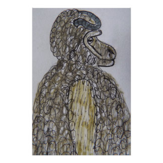 7 ft/214 cm tall Sheepsquatch RS Poster
