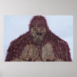 7 ft tall Dogsquatch man Poster