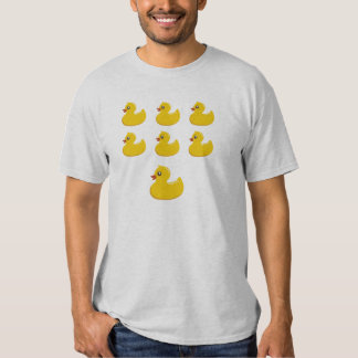 7 Funny Yellow Rubber Ducky Ducks T-Shirt