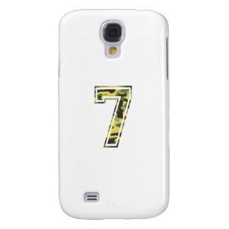 #7 Green & Yellow Camo Galaxy S4 Cover