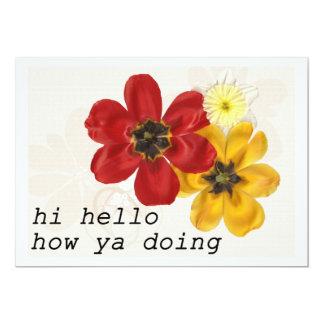 7 Hi Hello How ya doing Card