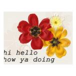 7 hola hola cómo usted que hace tarjeta postal