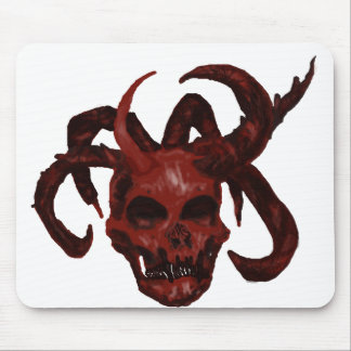 7-horned Demon Skull-broken-Mousepad Mouse Pad