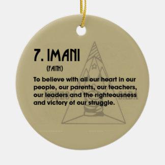 7. IMANI Kwanzaa Holiday Ornament