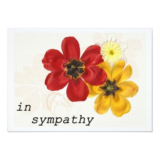 7 In Sympathy 5x7 Paper Invitation Card