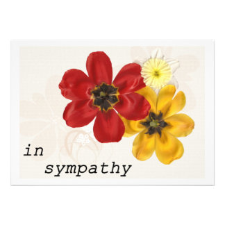 7 In Sympathy Personalized Invitations