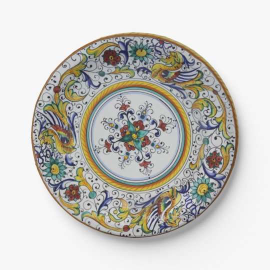 7 inch Early 16th Century Paper Plates  sc 1 st  Zazzle & Unicorn Pink And Gold Paper Plate 7