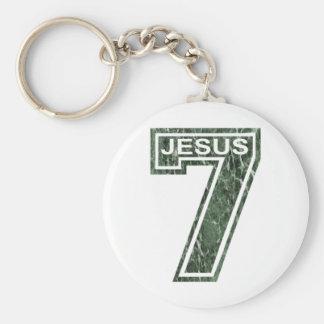 7 Jésus vert marbré Keychain