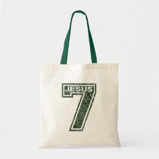 7 Jésus vert marbré Tote Bag