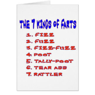 7 KINDS OF FARTS GREETING CARD