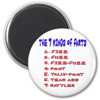 7 KINDS OF FARTS MAGNET