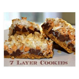 7 Layer Cookies Recipe Card Postcard