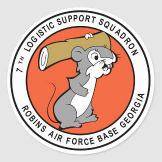 7 Logistical Support Classic Round Sticker