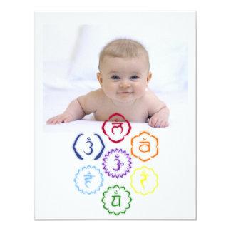 7 Main Chakras in a Circle Card