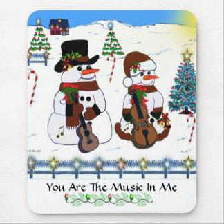 #7 Meadow Snowmen  Mousepad