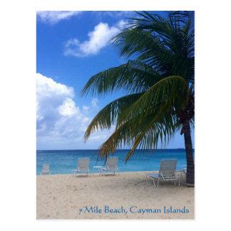 7 Mile Beach, Cayman Islands Postcard