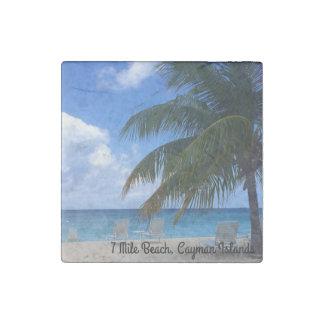 7 Mile Beach, Cayman Islands Stone Magnet