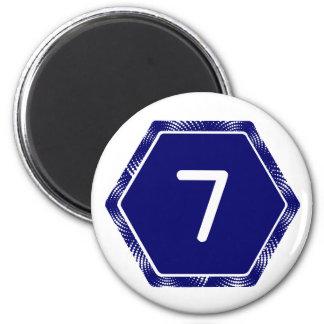 #7 Navy Tek Magnet
