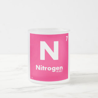 7 Nitrogen   Periodic Table of Elements Frosted Glass Coffee Mug