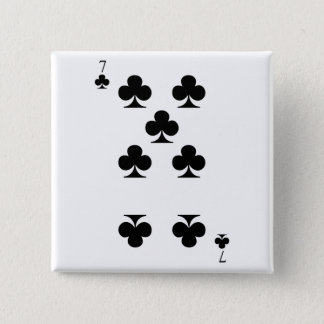 7 of Clubs Button