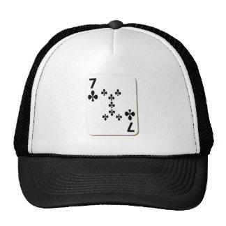 7 of Clubs Playing Card Trucker Hat