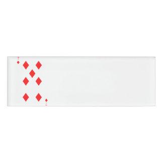 7 of Diamonds Name Tag